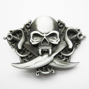 Skull-font-b-buckle-b-font-series-of-double-font-b-knife-b-font-self-shade